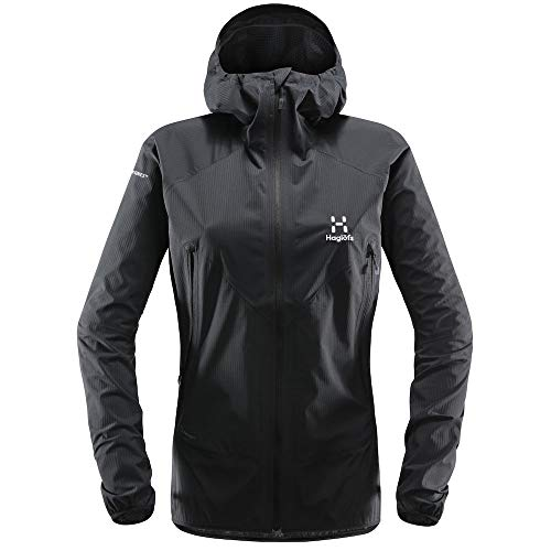 Haglöfs Regenjacke Frauen Outdoorjacke L.I.M Proof Multi Wasserdicht, Winddicht, Atmungsaktiv, Kleines Packmaß True Black XS XS - Empty for carryovers -