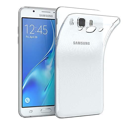 EAZY CASE Hülle für Samsung Galaxy J7 (2016) Schutzhülle Silikon, Ultra dünn, Slimcover, Handyhülle, Silikonhülle, Backcover, Durchsichtig, Klar Transparent