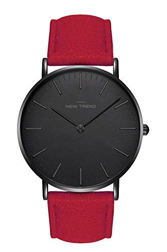 New Trend - Love for Accessories Damen Uhr analog Quarzwerk mit Kunst-Leder-Armband S8-004B-A55X
