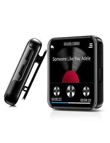 Mini Mp3 Mp4 Player Ruizu M5 8gb Com Clip Corrida Bluetooth Rádio Fm Pedômetro Contador passos Gravador voz Leitor de Música