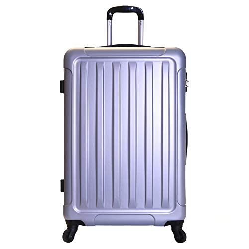 Slimbridge Extra Large Hard Shell Luggage Suitcase Bag XL 78 cm 3.8 kg 85 litres with 4 Wheels and Number Lock, Lydd (78 cm, Silver)
