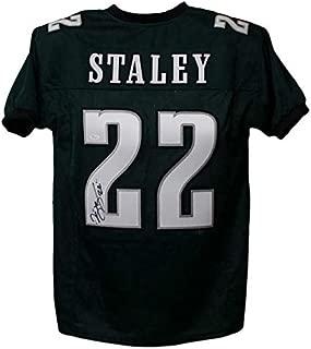 Duce Staley Autographed/Signed Philadelphia Eagles Green XL Jersey JSA