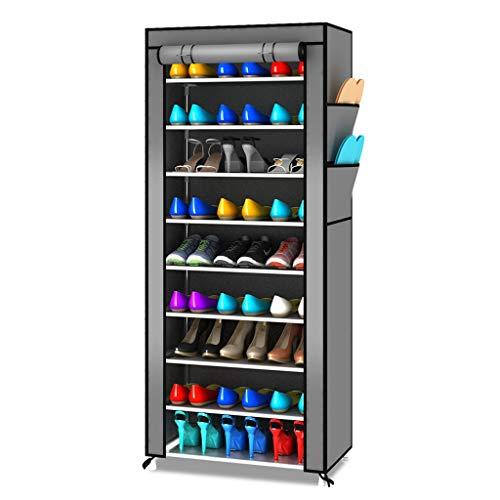 Zapatera Estante for zapatos de varias capas Conjunto de tela no tejida a prueba de polvo Armario for zapatos Soporte for gabinete de almacenamiento Gabinete for zapatos que ahorra espacio Zapatero