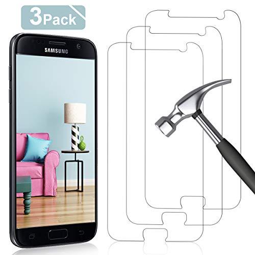 YIEASY Panzerglas für Samsung Galaxy S7, [3 Stück] Panzerglasfolie Schutzfolie für Samsung S7, 9H Härtegrad, 2.5D abgerundete Kanten Ultra Transparenz Displayschutzfolie, Keine Blasen, Anti-Öl