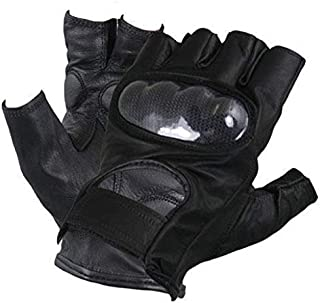 Best black leather fingerless gloves Reviews