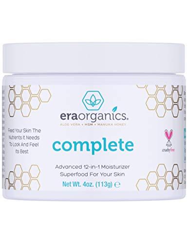 Era Organics Face Moisturizer Cream - Advanced Moisturizing 12-In-1 Dry Skin Cream With Superfood Manuka Honey, Hyaluronic Acid & More to Restore Dry, Sensitive Skin on Face, Neck, Hands.