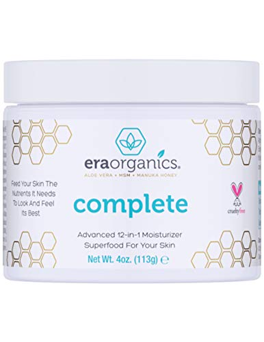 Era Organics Face Moisturizer Cream - Advanced Moisturizing 12-In-1 Dry Skin Cream With Superfood...