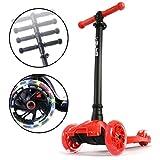 i-Glide Toddler Scooter - 3 Wheel Scooter for Kids - Kids Scooter with Warranty - Scooter for Girls & Boys - Adjustable Handlebar - Wide Deck - Lean 2 Steer - Flashing LED Wheels -