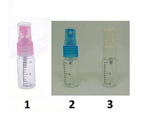Flacon Spray Pulverisateur Plastique Transparent 10ml Mod1 Rose - 224