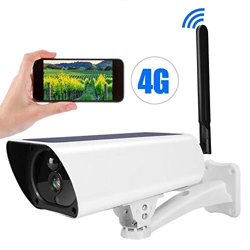 1080P Solar IP Kamera, 4G IP67 wasserdichte CCTV-Nachtsicht-Überwachungskamera Sicherheitsmonitorsystem mit Nachtsicht, Bewegungserkennung, Gegensprechanlage
