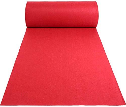 uyoyous Alfombra roja para eventos, 10 m x 1 m de largo, poliéster, color rojo, antideslizante, decoración de boda, alfombra de recepción