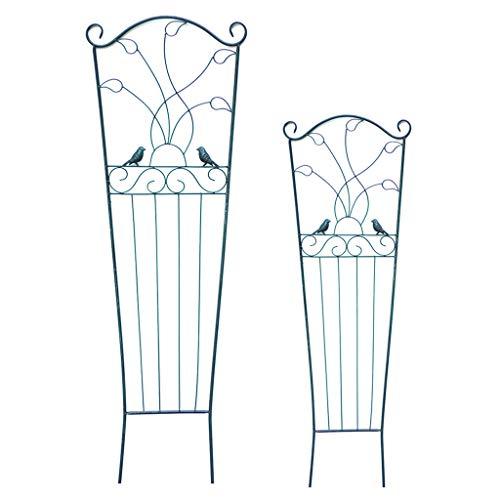 XLSQW Metall-Garten-Gitter, Klettergerüst Pflanze Trellis-Vogel-Entwurf Kletterpflanzen Support Home Garten-Blumen-Stände Wetterfest, für Außenanlagen