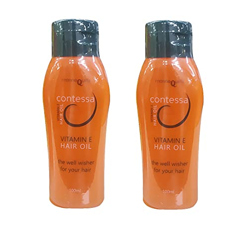 Mannequin Set of 2 Contessa Vitamin E Oil For Hair Growth, Healthy Skin & Nails (2*100 ml) for men and Women