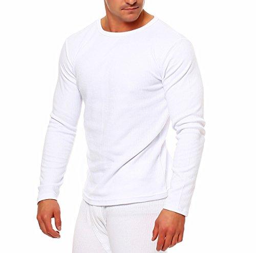SGS Homme Haut Thermique, Taille-Large/ Étiquette- 7, Blanc - Blanc