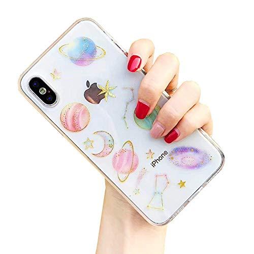 CXvwons Hülle für iPhone XS, Hülle für iPhone X Ultra dünn Weich TPU Silikon Handyhülle Mode Chic 3D Muster Bumper Cover Kratzfeste Stoßfest Schutzhülle Hülle Tasche für Apple iPhone XS X