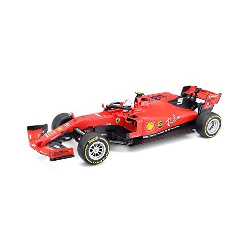 Bauer Spielwaren Maisto Tech R/C F1 Ferrari (2020): Ferngesteuertes Auto Sebastian Vettel im Maßstab 1:24, Originalgetreues Formel 1-Auto, 2,4 GHz, Pistolengriff-Steuerung, 22 cm, rot (582353)