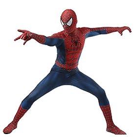 LuckB Superhero Spandex Costume Cosplay 3D Zentai Full Bodysuit Halloween Adult/Kids 3D Style