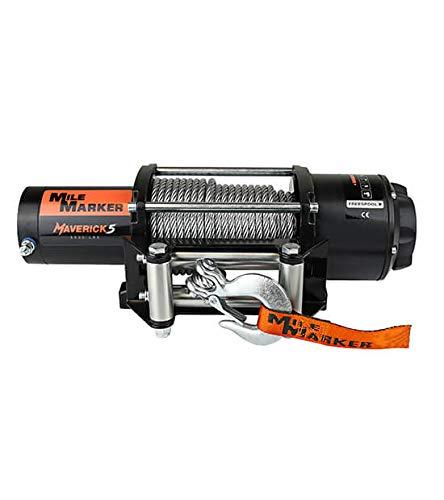 Mile Marker Maverick5 5000 Pound ATV/UTV Electric Winch with Steel Cable - (5000 lb. Capacity)