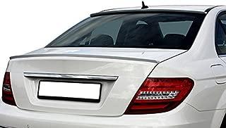 OriginalEuro Rear Trunk Lid Wing Sport Spoiler Lip for Mercedes Benz C Class Coupe C204 + Sedan W204 – AMG