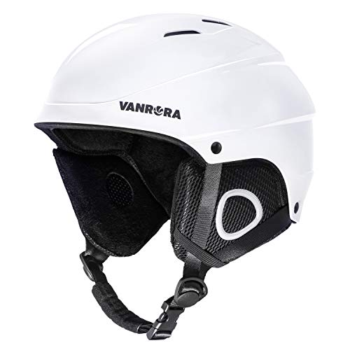 VANRORA Ski Helmet, Snowboard Helmet White, M (22.4-23.2 inces)