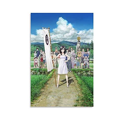 竜 と そばかす の 姫ポスター キャンバス 芸術 ポスター 壁アート 画像 印刷 現代 寝室 装飾 ポスター ホームアートワーク16×24inch(40×60cm)
