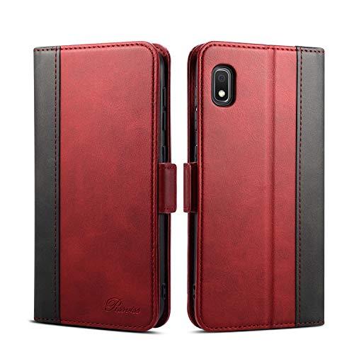 Rssviss Samsung Galaxy A10 Hülle, Galaxy A10/M10 Handyhülle mit Kartenfach, Samsung A10 Handy Schutzhülle/Klapphülle, Lederhülle mit Standfunktion, Ledertasche für Samsung Galaxy A10/M10 6.2