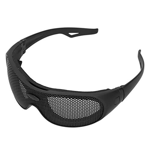 Safety Goggles, Breathable Impact Resistant Iron Mesh Pattern Uv400, Against Wind and Sand, for...