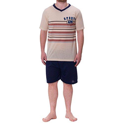 Lucky Classic Sport Pyjama pour Homme - Beige - Large