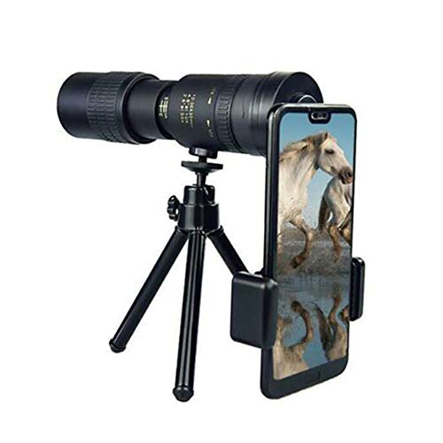 YOUNGE Telephoto 4K 10-300X40mm Super Telephoto Zoom Monocular Telescope for Beach Travel
