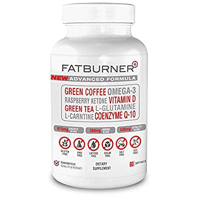 Fat Burner Plus - Advanced Weight-loss System | 1 Month Supply (60 Softgel Capsules)