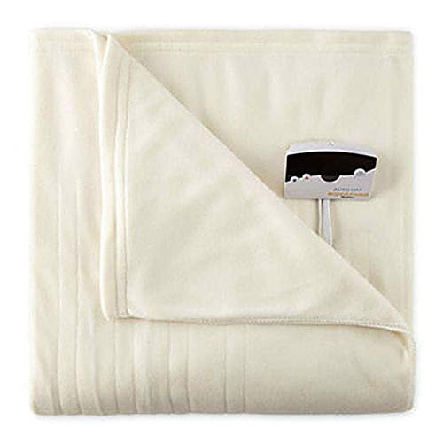 Biddeford 1001-9052106-757 Comfort Knit Fleece Electric Heated Blanket Full Natural