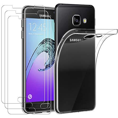 ivoler Funda para Samsung Galaxy A3 2016, con 3 Unidades Cristal Templado,...