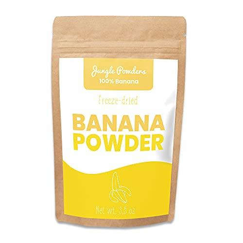 Jungle Powders Freeze Dried Banana Powder - 3.5oz 100% Natural Powdered Banana Extract - Single Ingredient Banana Food Flavoring - No Sugar Added Gluten Free Superfood Baking Powder Yellow