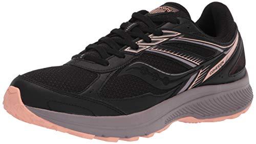 Saucony Men's COHESION TR14 Trail Running Shoe, BLACK/SUNSET, 7 Medium