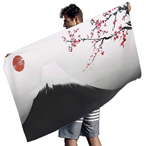 Ballbollbll Toallas de playa de la cultura japonesa para el ejercicio al aire libre de Super Size Beach Mat para hombres mujeres blanco 150x75 cm