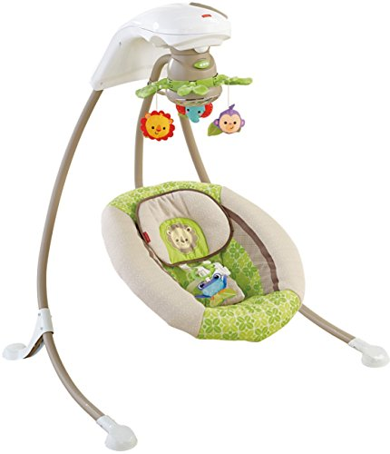 Fisher-Price Deluxe Cradle 'n Swing, Rainforest Friends by Fisher-Price