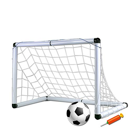 Tragbares Fußballtor Mit Fußball Und Pumpe | Sofortige Einrichtung | Robuster Leichter Rahmen | Schnelle Einrichtung Einfache Faltlagerung | Kurzes Kleines Nebenspiel | Technische Praxisgenauigkeit