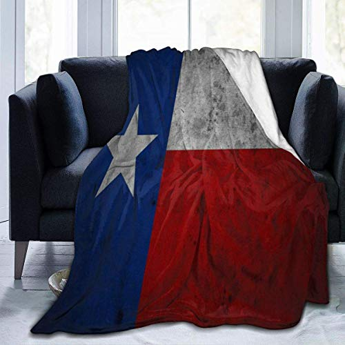 W-wishes Retro Texas Flag Throw Flannel Fleece Blanket,Soft Warm Fluffy Plush Blanket For Bed Couch Chair Living Room,50'x60'