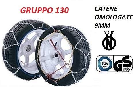 RICAMBIITALIA2017Juego de Cadenas de Nieve 9milímetros para Coche (neumáticos 245/55R16) homologadas tuv GS–v5117Grupo 130txr9
