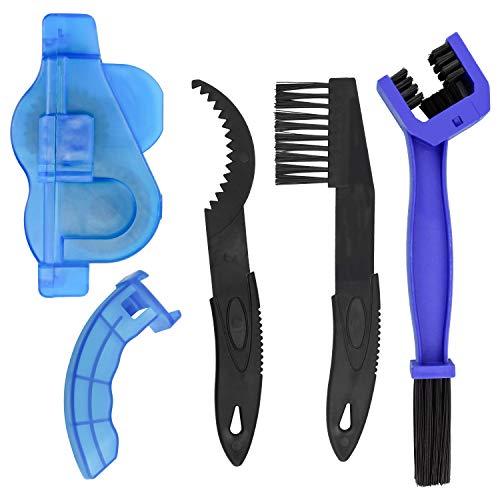 DESON Limpiador de Cadena de Bicicleta, Dispositivo de Limpieza de Cadenas, con Cepillos, para Todo Tipo de Bicicletas