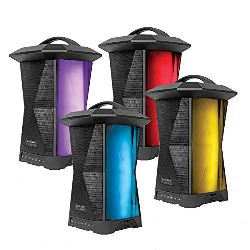 NUVELON Flare Multi Sync Wireless Speakers with Ambient Lighting and Rhythm Light Pulsing LED Lights - 4 Pack