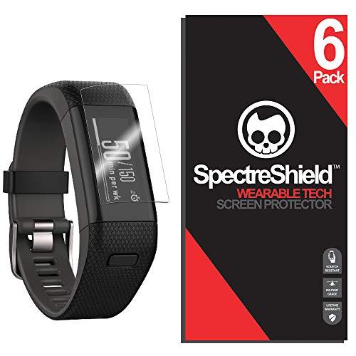 [6-Pack] Spectre Shield Screen Protector for Garmin Vivosmart HR Plus Accessory Garmin Vivosmart HR Plus Screen Protector Case Friendly Full Coverage Clear Film