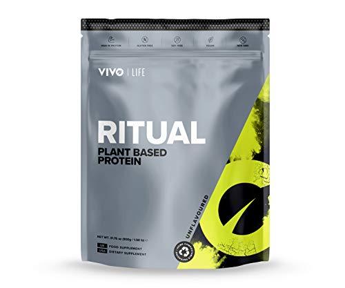 Vivo Life Ritual - Plant-Based Protein Powder (Natural 960g, 30 Servings)