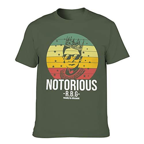 Camiseta de cuello redondo para hombre, diseño de RBG verde militar XXXL