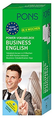 PONS Power-Vokabelbox Business English in 4 Wochen: 800 Vokabelkarten plus Wortschatztrainer-App
