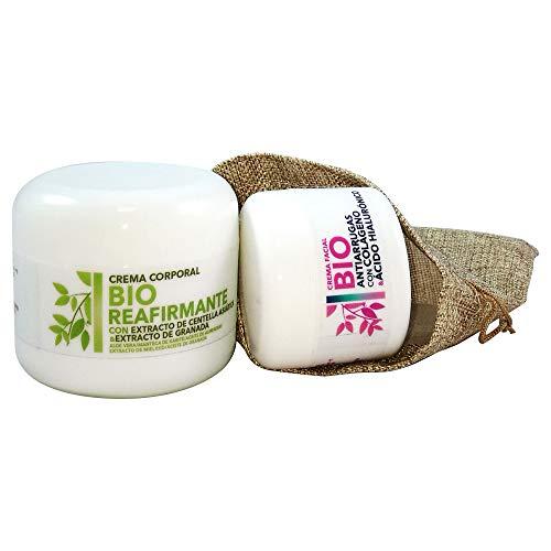 Pack 2 Cremas BIO Esenssi • Crema Facial BIO Antiarrugas con Colágeno 50 ml + Crema Corporal BIO Reafirmante con Centella Asiática 200 ml