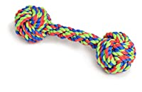Tug and chase rope toy for fun and fitness Helps clean dog's teeth, prevents gum disease Easy for pets to pick up with their mouths Great for fetch and retrieve games Ideal for small dogs and puppies