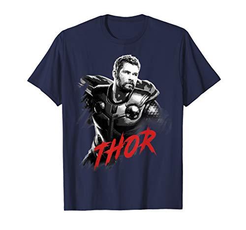 Marvel Avengers Endgame Thor Tonal Portrait Graphic T-Shirt