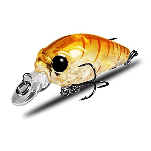 ZHANGJINYISHOP2016 Pesca señuelos cebos Aparejos Señuelos de Pesca Buceo Wobblers Cebo Artificial Lifelike Switebait para la Pesca de Agua Salada de Agua Dulce Compacto y fácil de Llevar (Color : D)