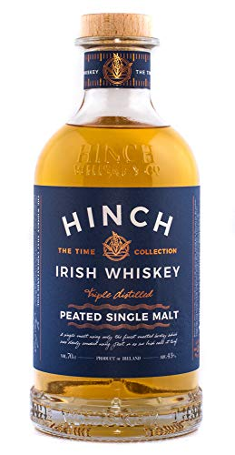 Hinch Distillery Peated Single Malt 43%vol Irish Single Malt Whiskey Single Malt Whisky (1 x 700 ml)